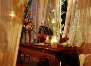 Candlelight dinner at Ban Sabai Village Resort Chiang mai