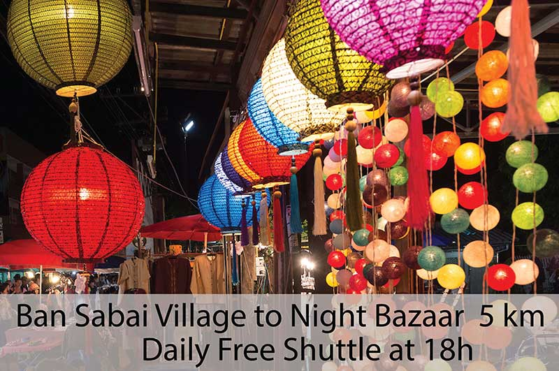 Chiang Mai shuttle bus - Night Bazaar