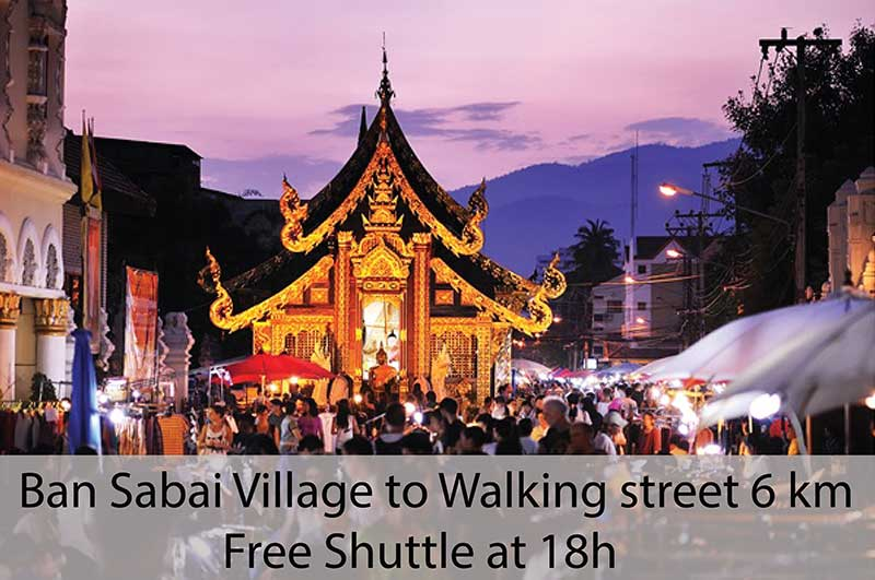 Chiang Mai shuttle bus - walking street